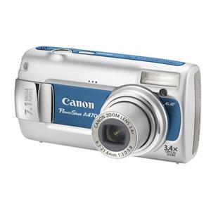 Compact Canon PowerShot A470 - Gris/Bleu + Objectif Canon Zoom 6.3-21.6mm f/3.0-5.8