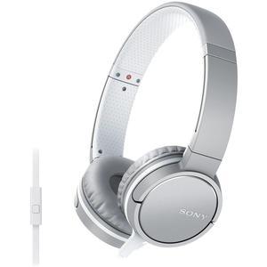 Kopfhörer Rauschunterdrückung mit Mikrophon Sony MDR-ZX660AP - Silber/Weiß
