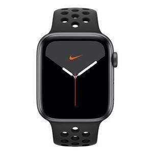 Apple Watch (Series 5) September 2019 44 mm - Aluminium Space Grau - Armband Nike Sportarmband Schwarz