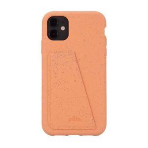 Coque Wallet écoresponsable, 100% biodégradable pour iPhone 11 - Cantaloup