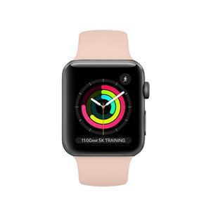 Apple Watch (Series 3) 38 mm - Aluminium Spacegrijs - Armband Sport armband Roze