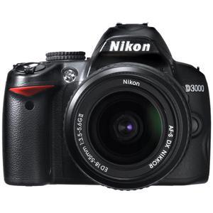 Reflex - Nikon D3000 Noir Nikon Nikon AF-S DX Nikkor 18-55 mm f/3.5-5.6G II
