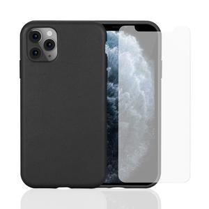 Hülle und 2 Schutzfolie iPhone 11 Pro - Kompostierbar - Schwarz