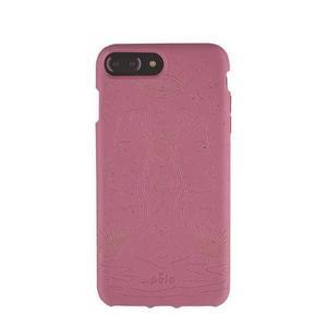 Coque écoresponsable, 100% biodégradable pour iPhone 6/6s/7/8 Plus - Cassis