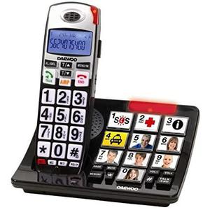 Téléphone fixe sans fil Daewoo Dtd-7500 - Noir