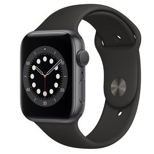 Apple Watch (Series 6) Σεπτέμβριος 2020 44mm - Αλουμίνιο Γκρι σίδερο - Αθλητισμός Μαύρο