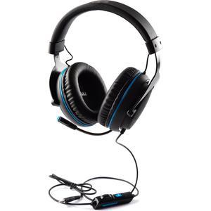 Kopfhörer Rauschunterdrückung Gaming mit Mikrophon Aaamaze Idra Pro Gaming headset AMGT0002 - Schwarz/Blau