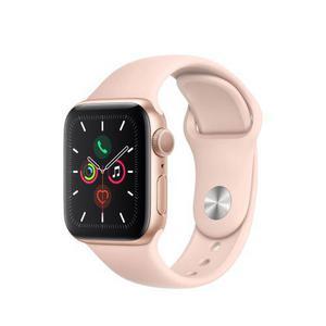 Apple Watch (Series 5) Septembre 2019 40 mm - Aluminium Or - Bracelet Sport Rose des sables