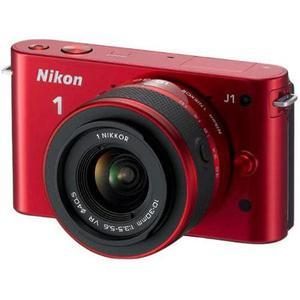 Hybride Camera Nikon 1 J1 Rood + Lens Nikon Nikkor 1 10-30 mm f/3.5-5.6 VR