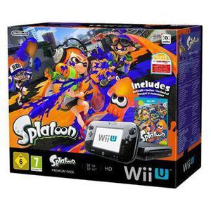 Console Nintendo Console Wii U Premium Pack Splatoon 32 GB + controller + videospel Splatoon - Zwart