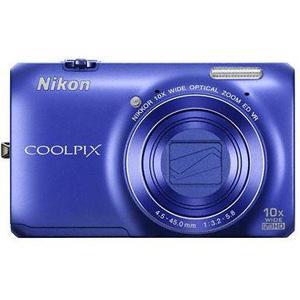 Compactcamera Nikon Coolpix S6300 - Blauw + Lens Nikon Nikkor 10X Wide Optical Zoom ED VR