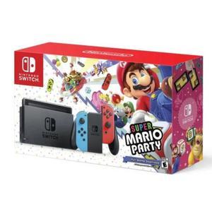 Console Nintendo Switch + Manettes - Rouge et Bleu + Super Mario Party